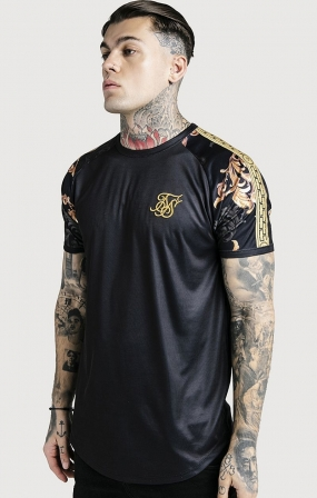 SikSilk x Dani Alves T-Shirt Maniche Dorate - Nera