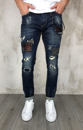 GIANNI LUPO Jeans con Patch - Denim