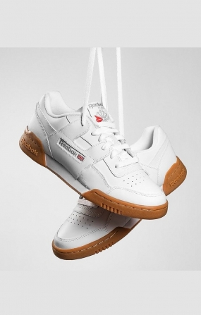 REEBOK WORKOUT PLUS - WHITE/CARBON