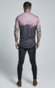 Siksilk s/s curved hem faded tee