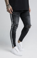 SikSilk Denim Banda - Nero
