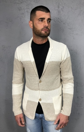 Giacca uomo in cotone panna&beige - Sseinse