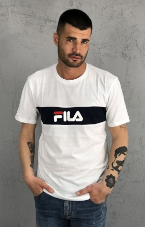T-Shirt Nolan Dropped Shoulder Bianca - FILA