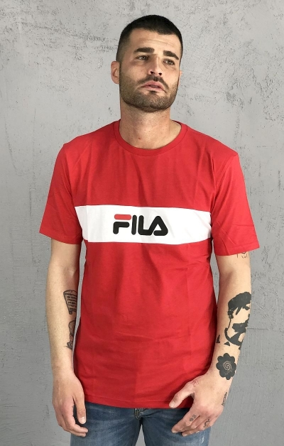 T-Shirt Nolan Dropped Shoulder Rossa - FILA