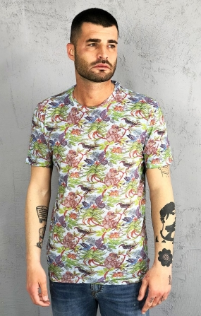 T-Shirt Tropical Celeste - SSEINSE