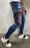 Jeans Denim con Patch Snake