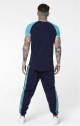 T- Shirt SikSilk- Blu/verde acqua