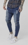 Jeans SikSilk Drop Crotch Patch - Blu Denim