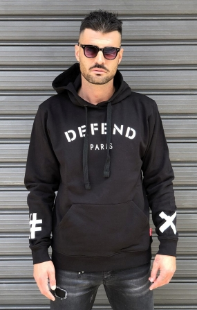Felpa Duke Nera - DEFEND PARIS