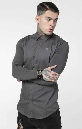 Camicia colletto Grigia - SikSilk