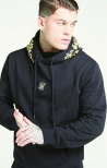 Felpa con cappuccio Over Jet Black & Gold - SikSilk
