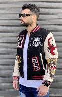 GIACCA BOMBER PATCH - NERO