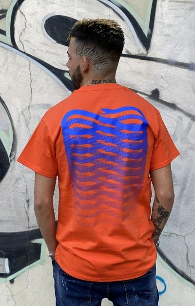 T-shirt Arancio Ribss Blu Royal - Propaganda