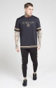 T-shirt Oversize Essentials Nero oro - SikSilk