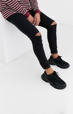 Jeans Skinny Fit Nero - !SOLID