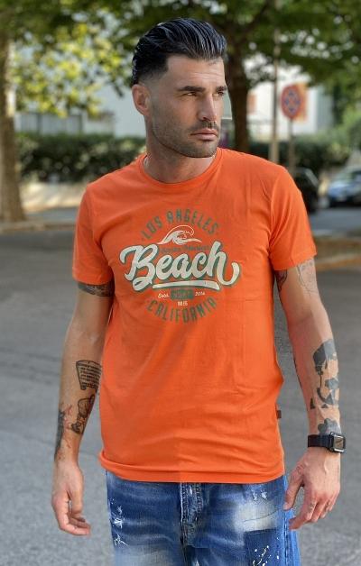 T-shirt Jasper Arancio - !SOLID