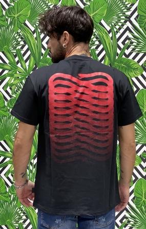 T-shirt Ribs Nero/Rosso - PROPAGANDA