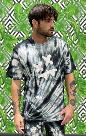 T-shirt Essential SikSilk X Steve Aoki - Nero & Bianco