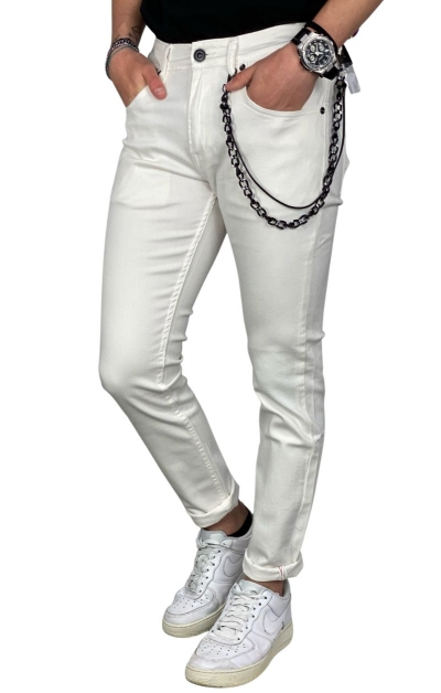GIANNI LUPO Jeans Kevin Skinny Fit - Bianco