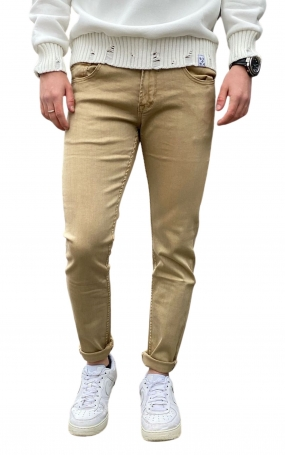 GIANNI LUPO Jeans Kevin Skinny Fit - Camel