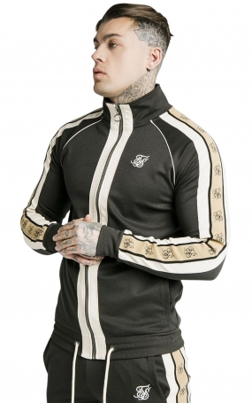 Felpa con zip SikSilk Premium Tape - Antracite