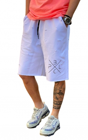 PABLIC Short Rotture - Bianco