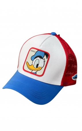 CAPSLAB Cappellino Disney Donald Mesh Bianco Rosso