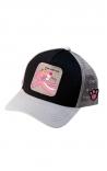 CAPSLAB Cappellino Trucker Pink Panther Nero Grigio