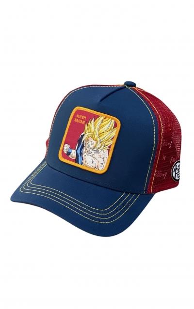 CAPSLAB Cappellino Trucker Dragon Ball Z Super Sayan Blu