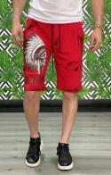 Bermuda short Indian Skull Rosso - LOOK INSIDE