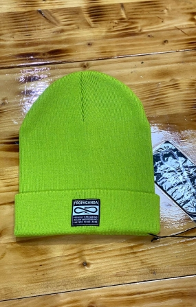 PROPAGANDA Label Beanie Berretto Logo - Lime