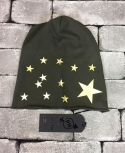 BEANIE PEOPLEHOUSE MILITARE STELLE ORO
