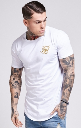T-SHIRT SikSilk - GOLD EDIT - WHITE