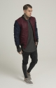 PEAK BOMBER SIKSILK - BURGUNDY & BLUE