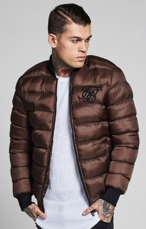 SIKSILK AERO BUBBLE BOMBER - BROWN