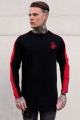 Sinners Attire Long Sleeve Core Tee - Black/Red