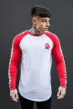 Sinners Attire Long Sleeve Tape Core Tee - White&Red