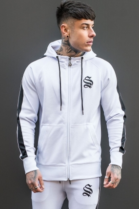 Poly Track Hoodie - White