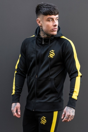 Poly Track Hoodie - Black/Yellow