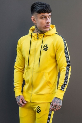 Poly Track Hoodie - Yellow/Black