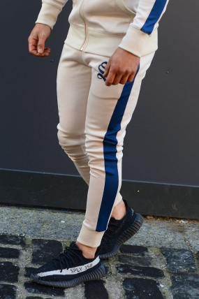 Sinners Attire Poly Track Joggers - Sand/Navy