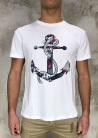 T-Shirt Outfit Italy - Bianco Stampa Ancora