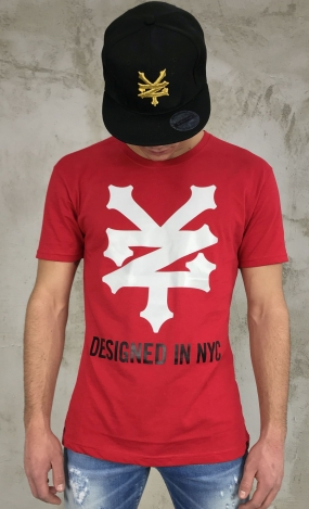 T-SHIRT ZOO YORK - ROSSA