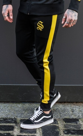 Poly Track Joggers - Black&Yellow