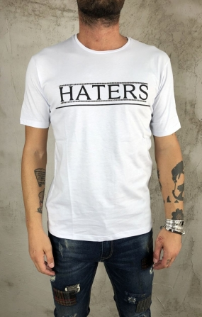 gianni lupo T-Shirt Haters - Bianco