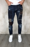 Gianni Lupo Jeans con Patch e Rotture - Denim