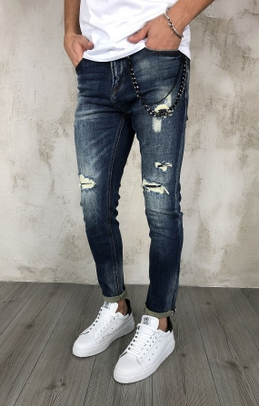 Gianni Lupo Jeans Ripped - Denim