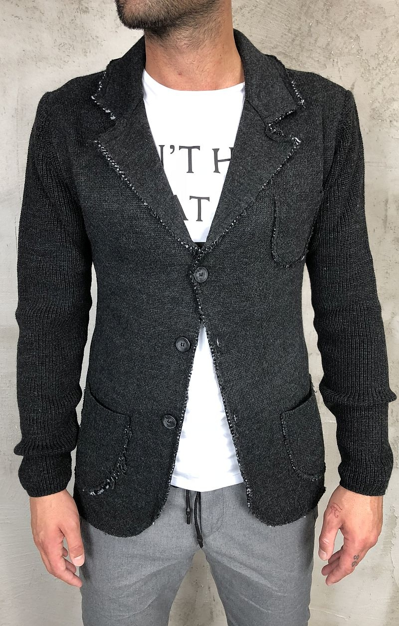 best website 34148 7a5d1 Sseinse cardigan Uomo con Bottoni Grigio Antracite