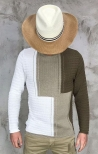 Maglia Outfit Italy - Beige/Bianco