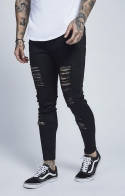 JEANS ILLUSIVE - illusive london low rise rip up jeans
